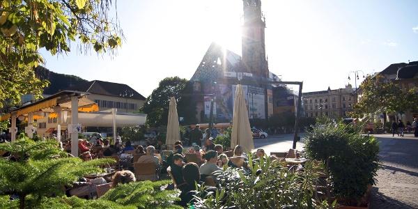 Der Waltherplatz in Bozen, Dreh- und Angelpunkt in der Altstadt
