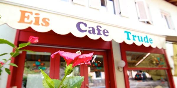 Cafe Trude in Kaltern, Start der Mountainbiketour