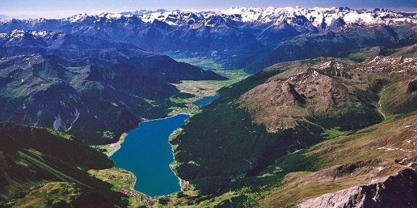 Reschensee und oberen Vinschgau