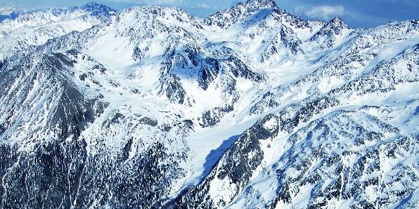 The Gioveretto peak in Val Martello valley.