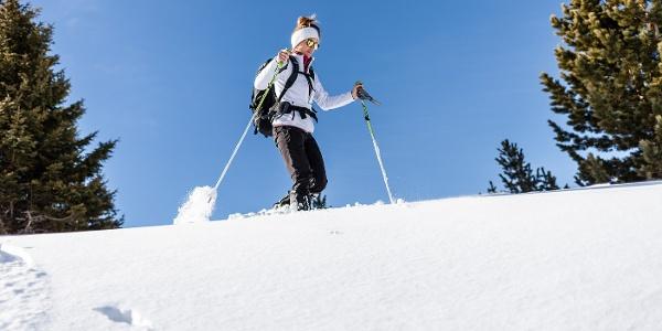 Mit den Schneeschuhen über das Auener Joch auf die Stoanernen Mandln.