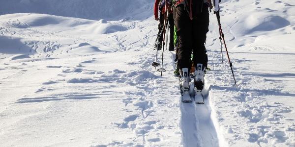 Schwierige Skitour auf die Hohe Wiegenspitze im Mastauntal.