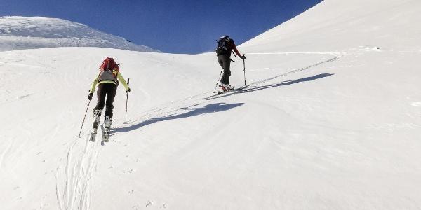 Einfache Skitour auf die Seespitz am Deutschnonsberg bei Proveis.