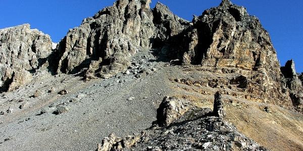 The rugged walls of the Piz Starlex