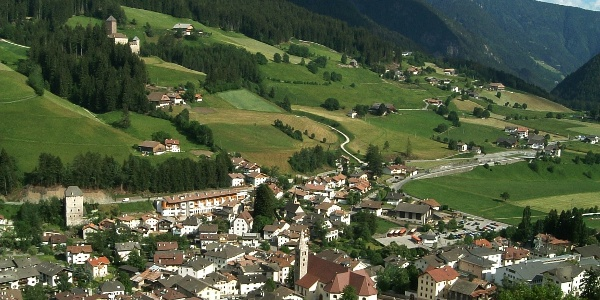 Mountainbike Tour in Val Sarentino with view.