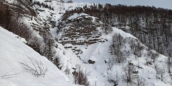 Der Balken unter Tolminski Migovec