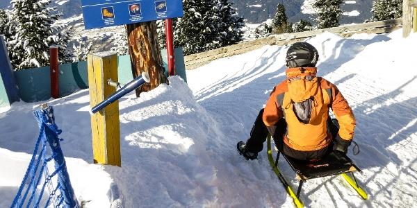 "On the toboggan run ""Rudi Run"" from the Plose mountain down to the valley."