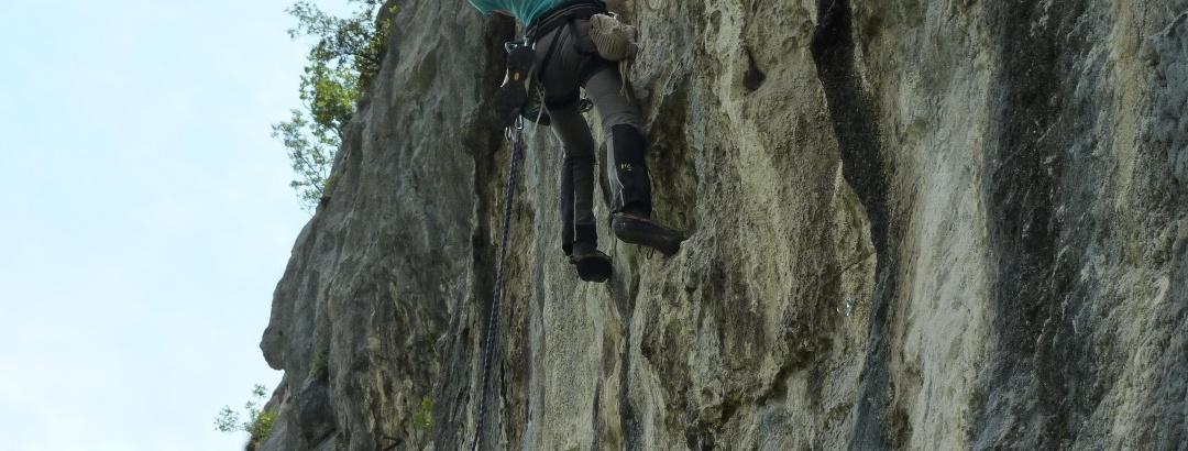 Kraftraubende Kletterei