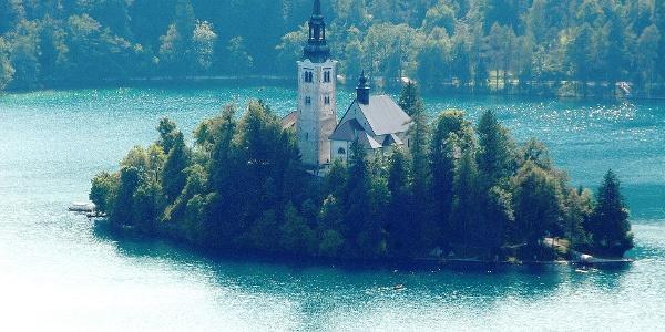 Kircheninsel im Bleder See
