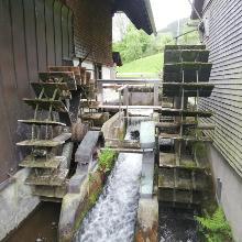 Wasserräder der Ölmühle in Simonswald