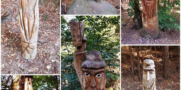 Verschiedene Skulpturen auf dem Weg zur Trifelsblickhütte