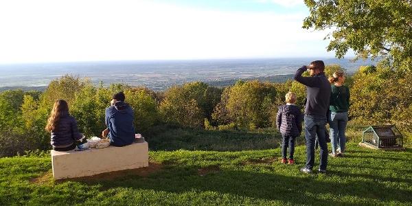 point de vue au château des Allymes