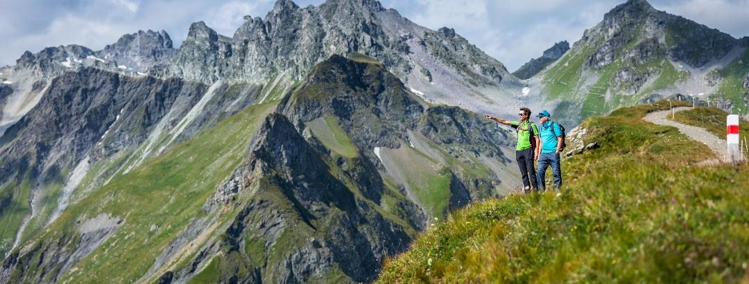 Aussicht vom Pizol Panorama Höhenweg Richtung Wildseeluggen
