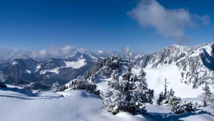 Gipfelpanorama mit Jägerkamp und Benzingspitz