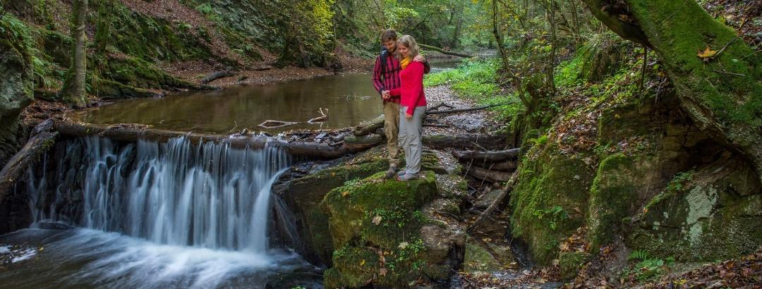 Wasserfall in der Baybachklamm