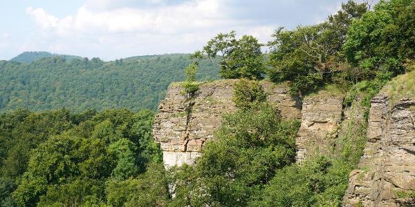 Blick von der Teufelskanzel am Hohenstein