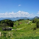 Blick zum Mantalgebirge