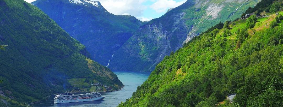 Der Geirangerfjord in Norwegen