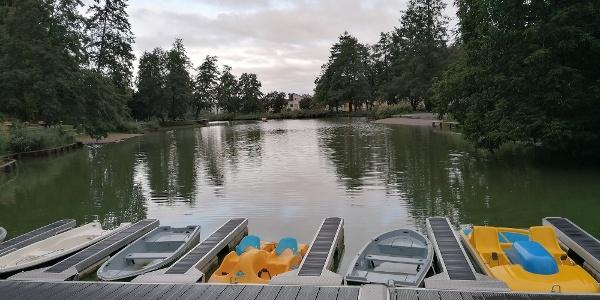 Boote auf dem Stadtrainsee