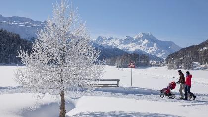 passeggiata invernale al lago di Champfèr