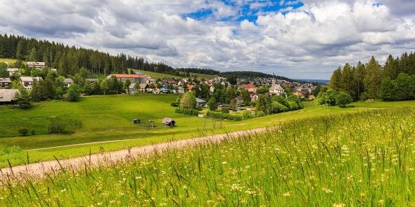 Blick auf Schönwald vom Dobel-Skilift