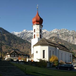 Vandans, Alte Pfarrkirche Heiliger Johannes der Täufer mit Friedhof