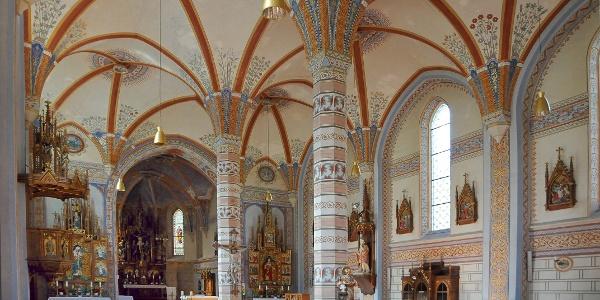 Silbertal, Katholische Pfarrkirche Heilige Josef und Nikolaus mit Friedhof 1