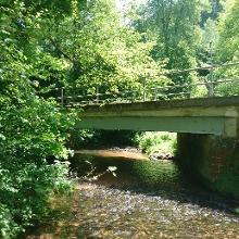 Brücke des Kuckucksbähnel über den Speyerbach