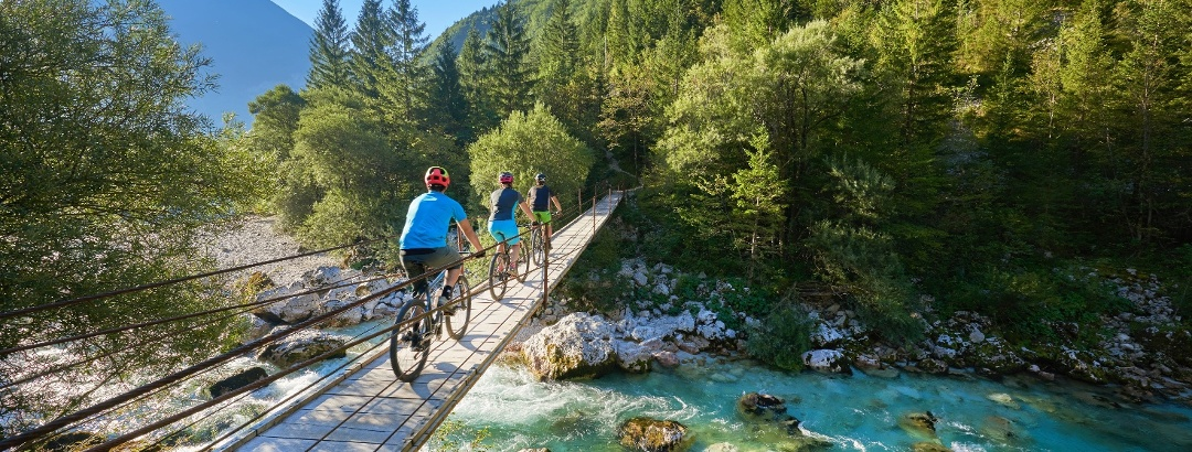 Radfahren im Soča-Tal