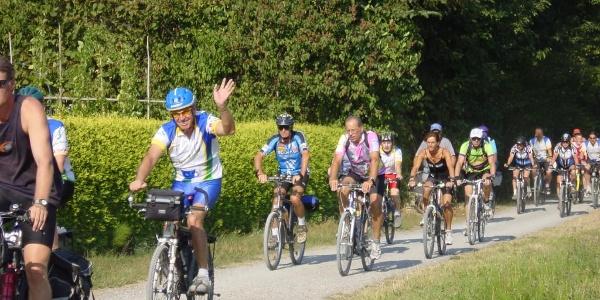 Radfahrer beim 3-Länder-Radevent