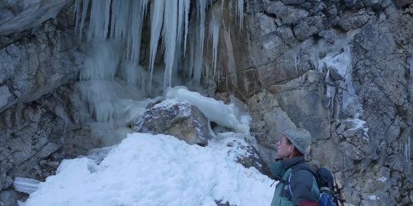 Eiszapfen in der Schlucht des Filzmoosbachs