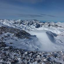 Blick vom Schoberschartl (2.500 m) Richtung Nordwest zum Watzmann