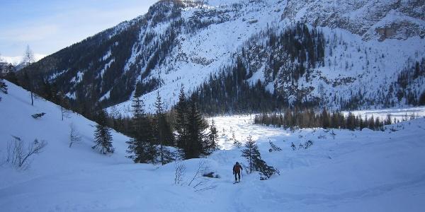 Der Aufstieg ins Altensteintal beginnt.