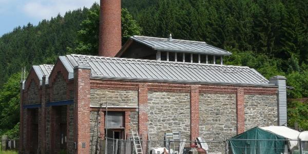 Ehemaliges Maschinenhaus der Reißwollfabrik