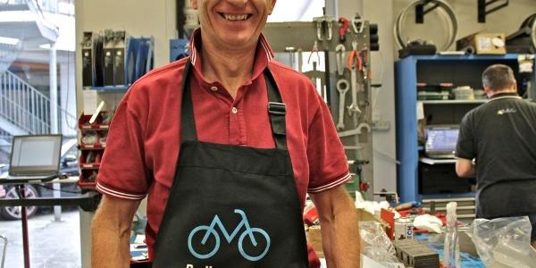 Peppi Staffler, Pionier der Südtiroler Bikeszene.