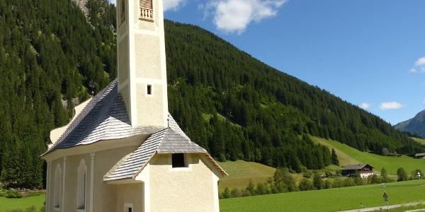 Die Maria-Heimsuchungs-Kapelle im Gsiesertal.