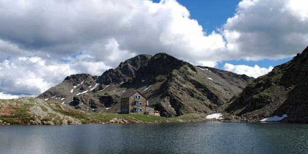 Flaggersee, Flaggerschartenhütte und Jakobsspitze
