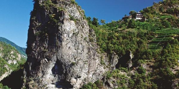 Der Johanniskofel befindet sich am Eingang des Sarntales.