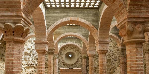 Dömösi prépostsági romok - a rekonstruált altemplom