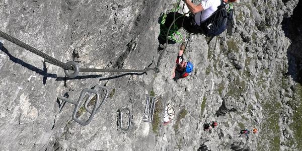 Am Grandlspitz Klettersteig.