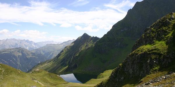 Schwarzsee - links liegt der kleine Kälbersee