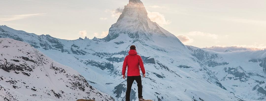 Ruta invernal en la región del Cervino (Matterhorn)