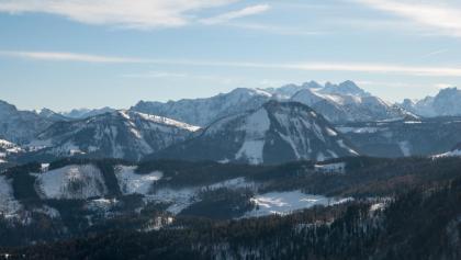 Blick vom Zwölferhorn auf Postalm und Dachstein