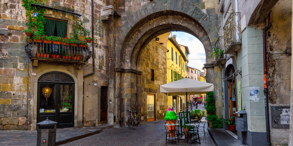 Explore the charming town of Lucca.