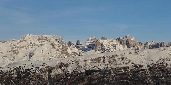 Panoramica del Monte Gazza dal Monte Bondone