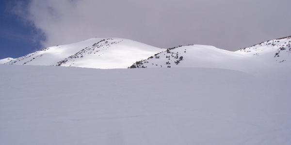 freie Hänge Richtung Gipfel