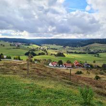 Blick vom Aussichtspunkt auf Ibach