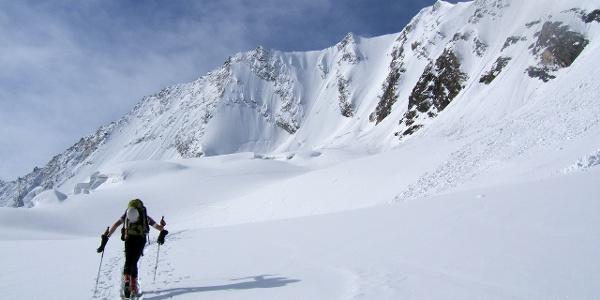 Am Schlegeiskees - Zustieges zur Nordwand.