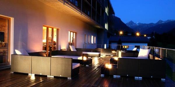Terrasse am Sommerabend