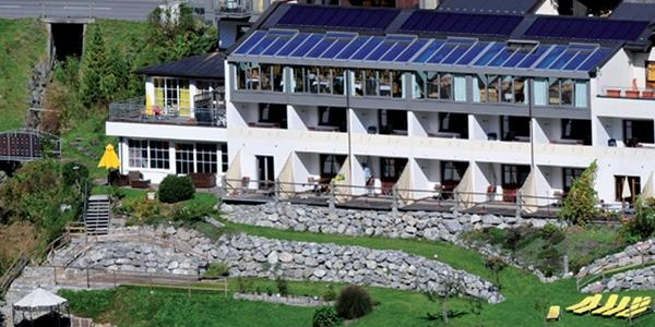 Hotel im Sommer